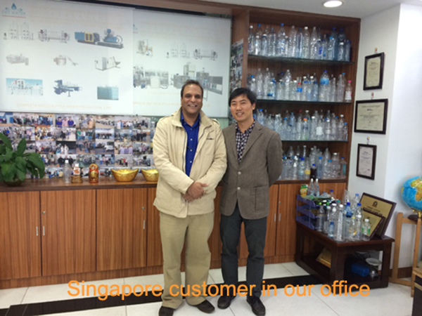 Singapore customer in our office