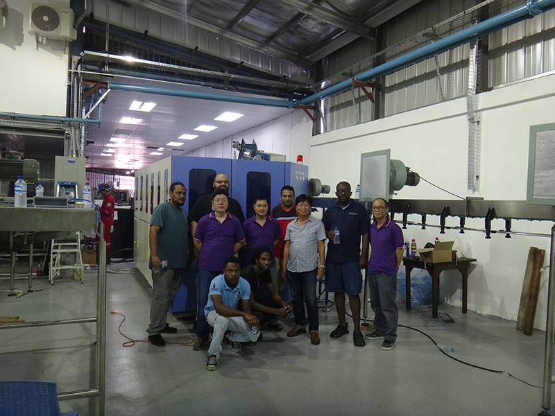 Shenzhen J&D Drinking Water  install 9000bph bottled carbonated beverage line in Trinidad and Tobago