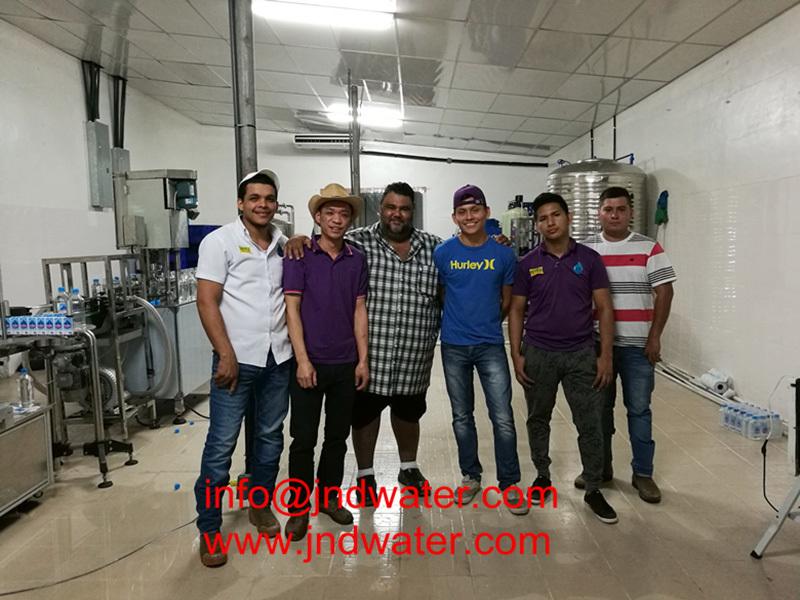 Shenzhen J&D Drinking Water install 2000BPH bottled water line in Panama