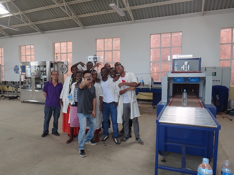 Shenzhen J&D Drinking Water install 3000-4000bph bottled water Line in Tanzania