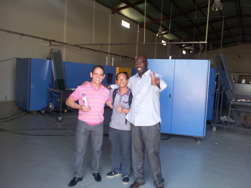Shenzhen J&D Drinking Water install 10000 BPH bottled water line in Senegal