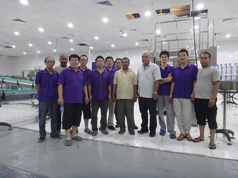 Shenzhen J&D Drinking Water install 15000bph Complete Water Line in Saudi Arabia