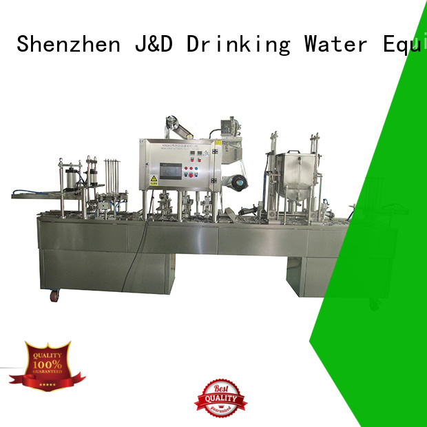 automatic machine sealing OEM cup sealing machine J&D WATER