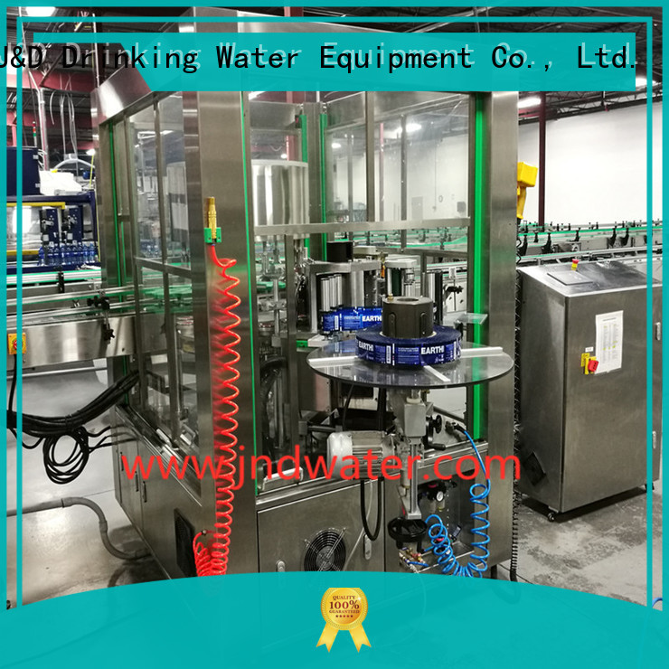 Quality J&D WATER Brand labeling melt water bottle labeling machine