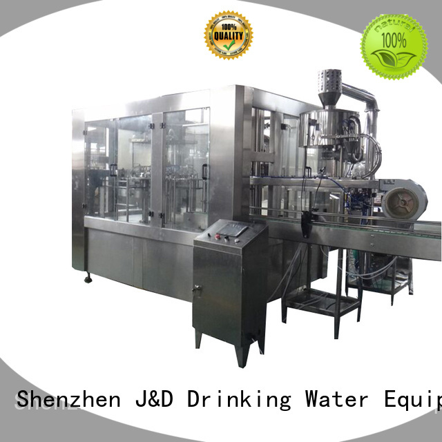 Quality J&D WATER Brand automatic bottle filling machine sale