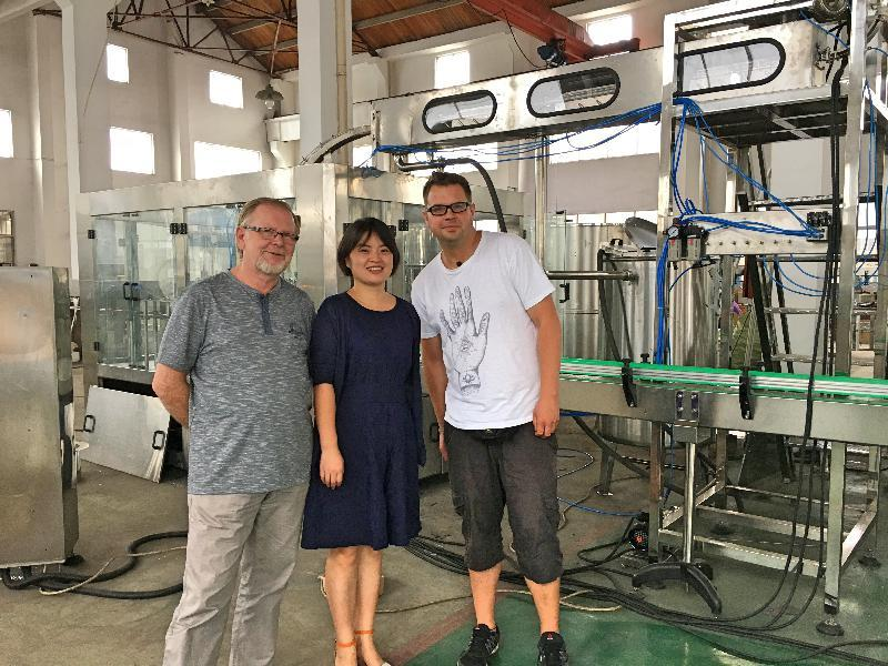 Polish customers come to visit our factory