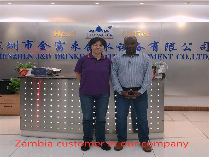 Zambia customer in our company