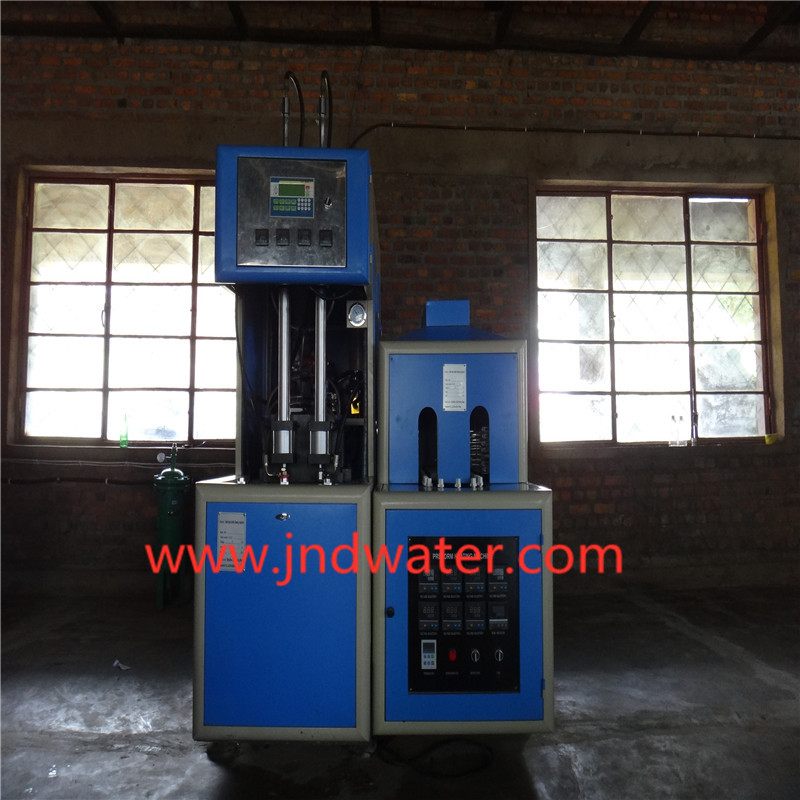 JNDWATER Semi-Auto Reheat Stretch Plastic Bottle Blow Molding Machine For 2 Cavites