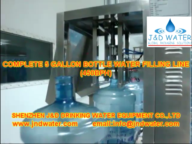The JNDWATER 5 Gallon  Water Filling Line installed by the company is put into production and the products are in normal operation.