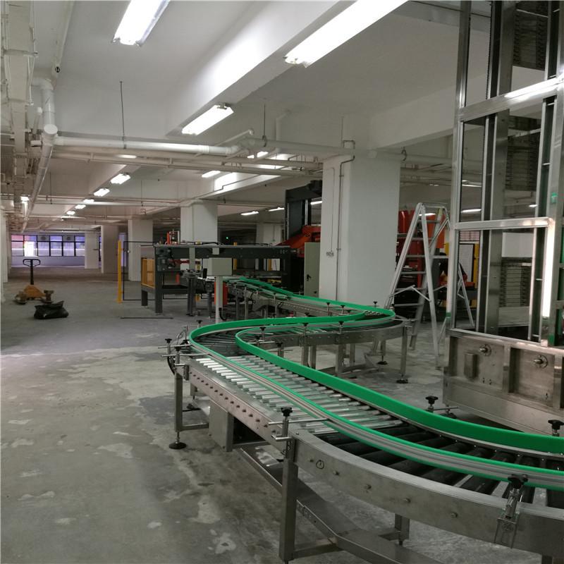 JNDWATER Powered Steel Roller Conveyor Gravity Conveyor