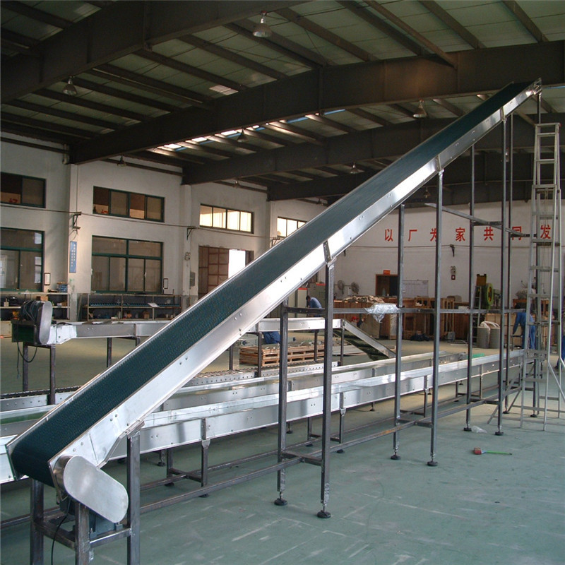 JNDWATER Conveyor Belts Climbing Slat Chain Conveyor
