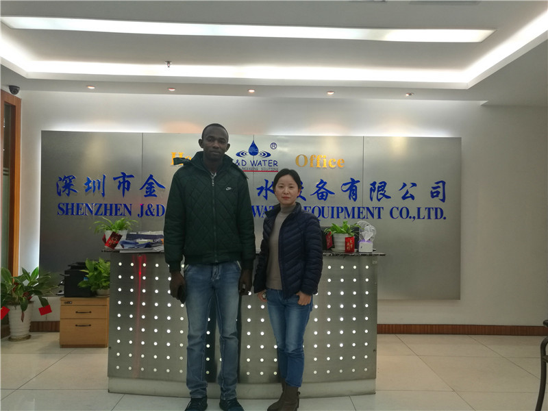 Customer Visiting ShenZhen J&D Drinking Water Equipment Co.,Ltd.