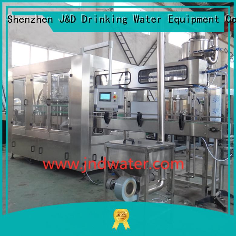 wine bottle filler machine washing filling machine J&D WATER Brand company