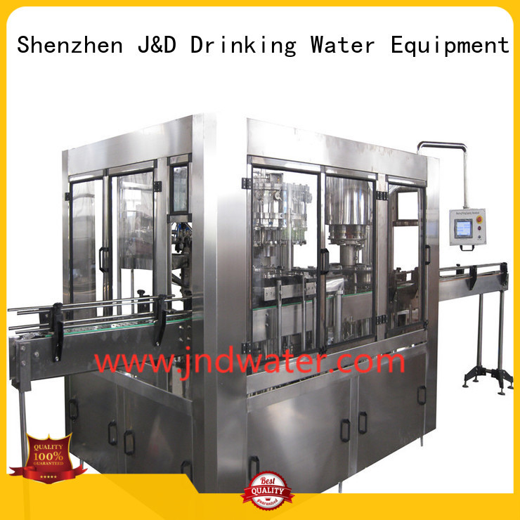 Quality J&D WATER Brand automatic bottle filling machine easy machine