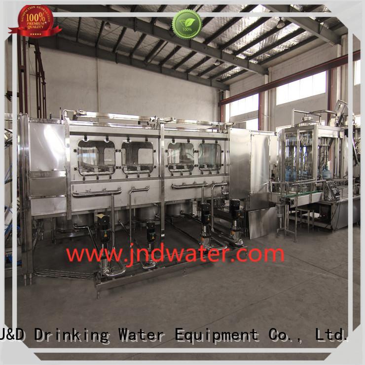 Custom bottle bottling equipment filling J&D WATER