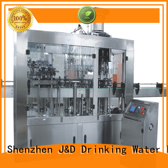 bottled carbonated beverage bottle capping machine J&D WATER Brand company