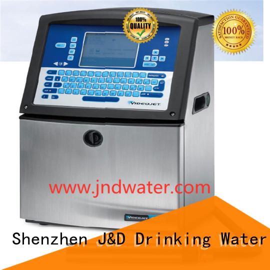 dioxide date J&D WATER Brand laser marking machine price factory