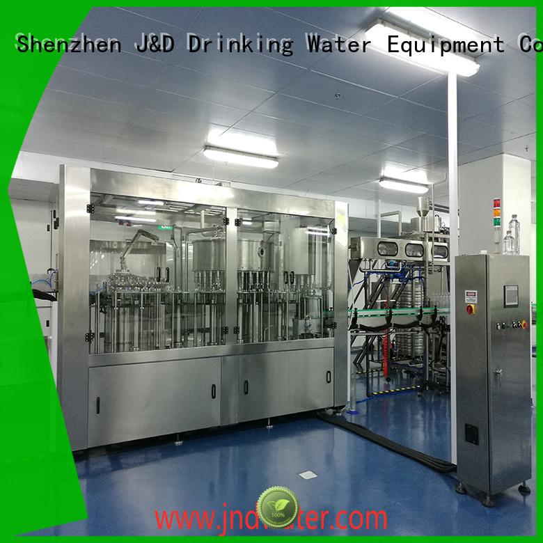 Quality J&D WATER Brand automatic bottle filling machine carbonated filling