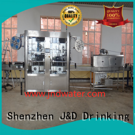 sleeve auto bottle labeling machine manufacturers J&D WATER Brand
