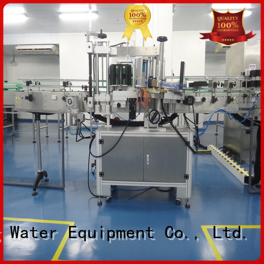 automatic machine self adhesive labeling machine sticker J&D WATER company