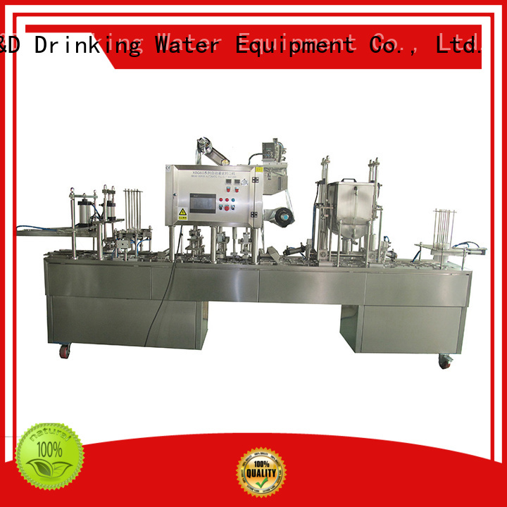J&D WATER Brand sealing automatic cup filling sealing machine machine