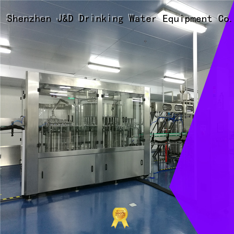 J&D WATER Brand operate beverage bottle capping machine carbonated factory