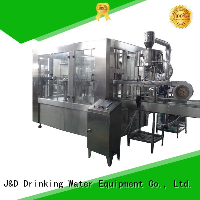 J&D WATER Brand machine automatic custom automatic bottle filling machine