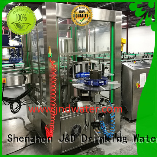 J&D WATER Brand opp bottle labeling bottle filling and labeling machine automatic