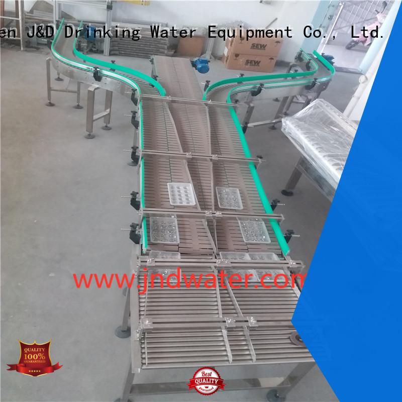 chain belt stainless J&D WATER Brand chain conveyor belt factory