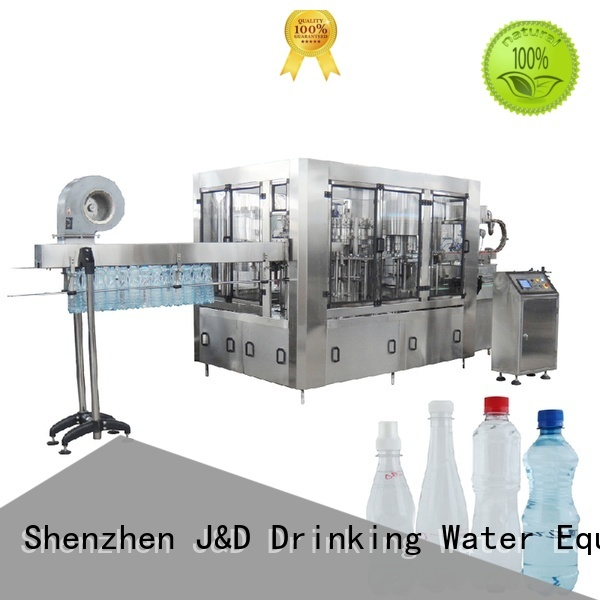 machine operate bottle capping machine easy J&D WATER Brand