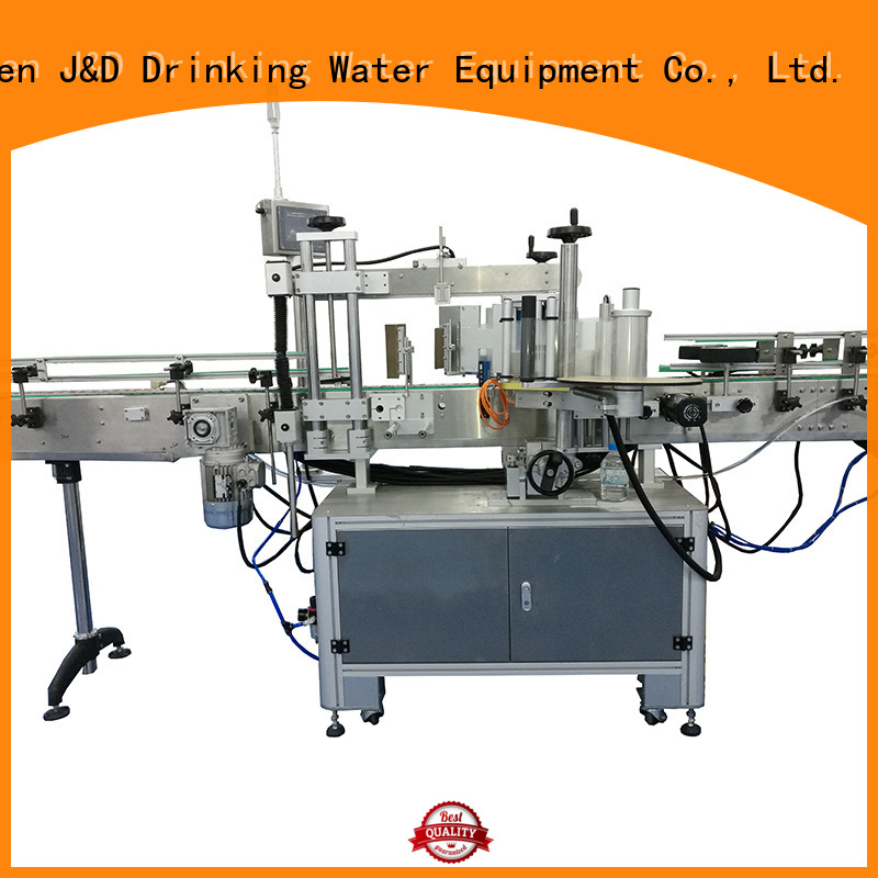 bottle label sticker tube labeling machine J&D WATER Brand