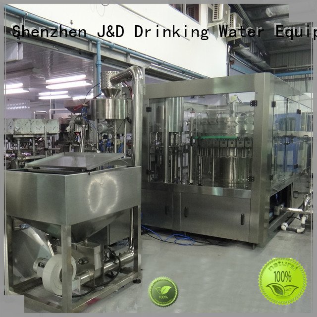 automatic bottle filling machine carbonated bottle capping machine J&D WATER Brand
