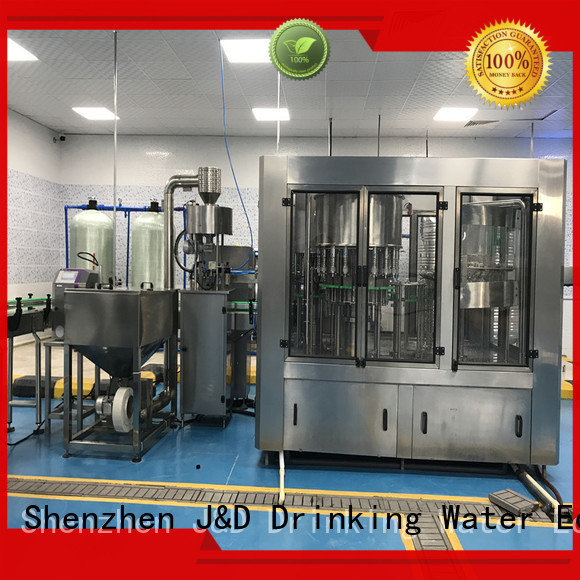 J&D WATER Brand fully bottled automatic bottle filling machine operate supplier