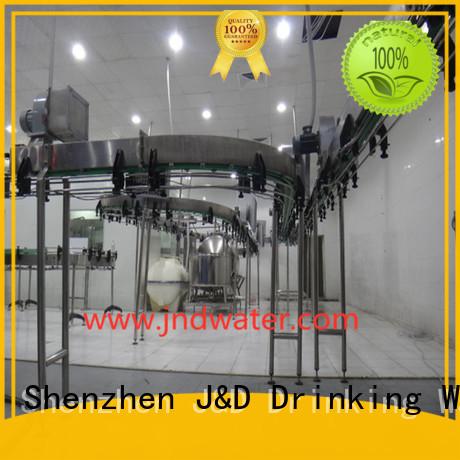 J&D WATER Brand filling bottle air conveyors line factory